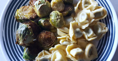 feature tortellini balsamic brussels sprouts