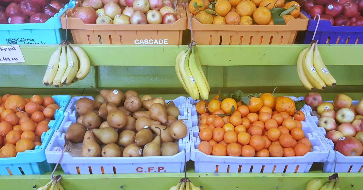 santiagos fruit stand bins