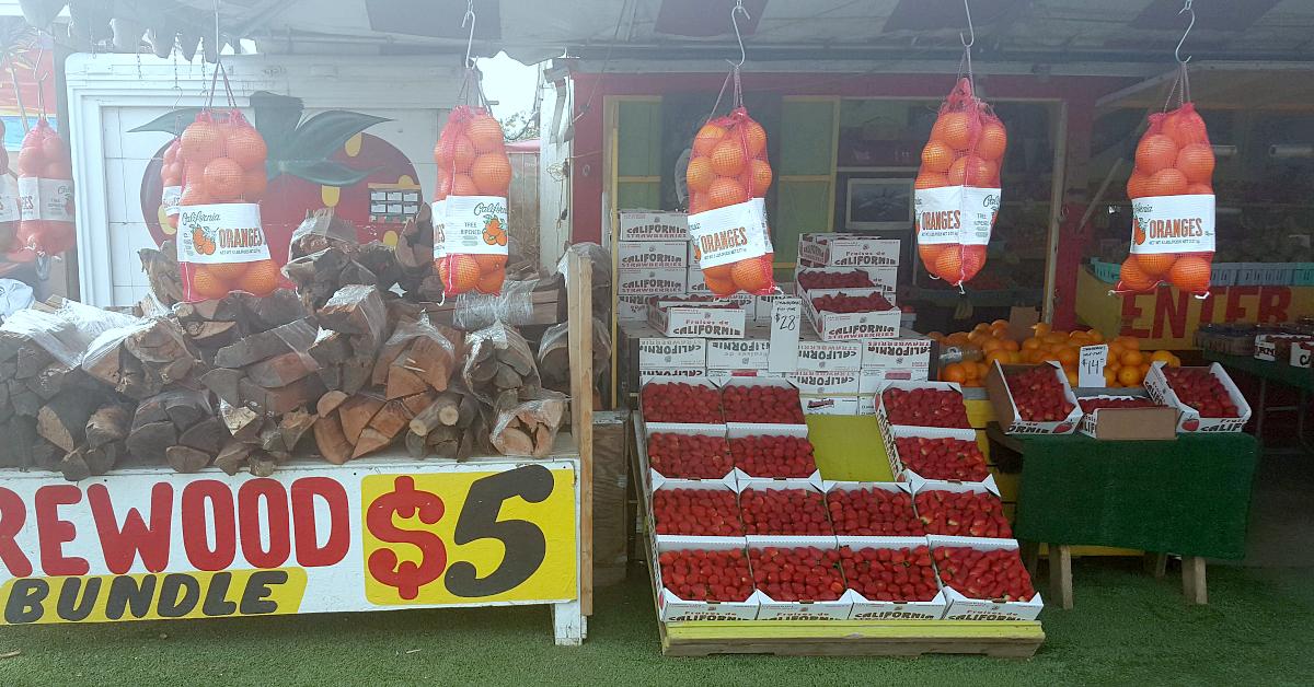 santiagos fruit stand firewood