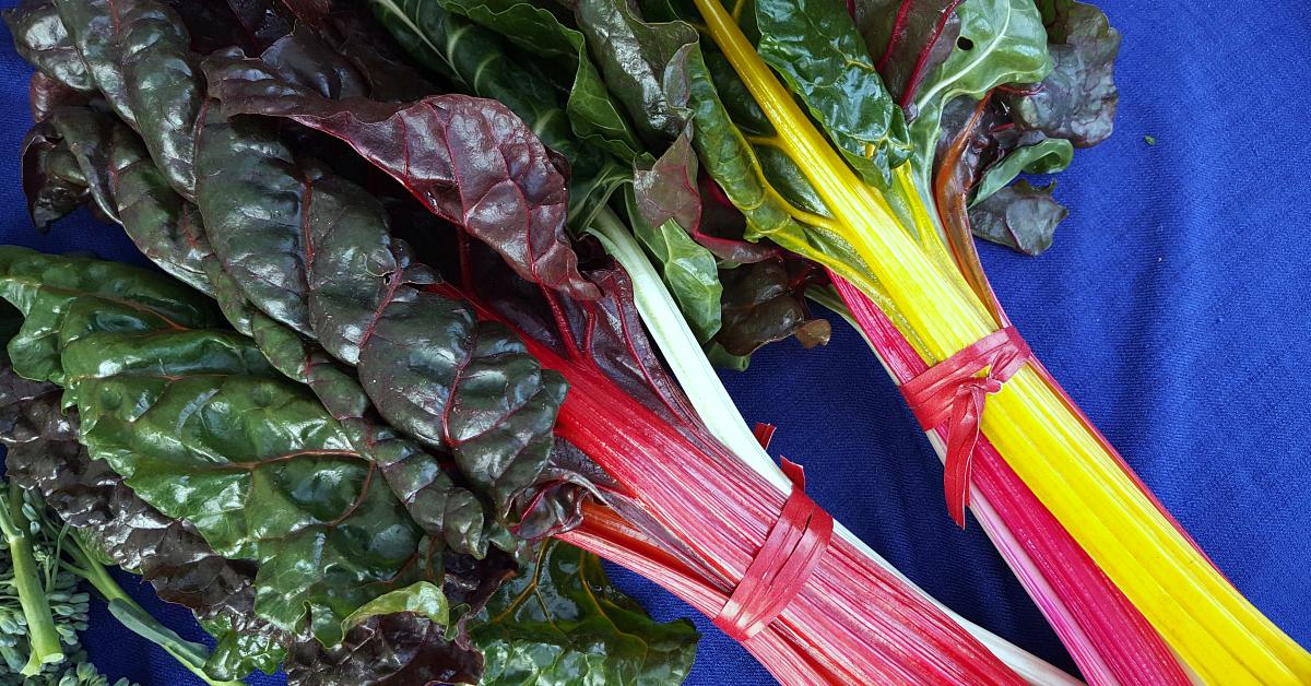 solvang farmers market rainbow chard