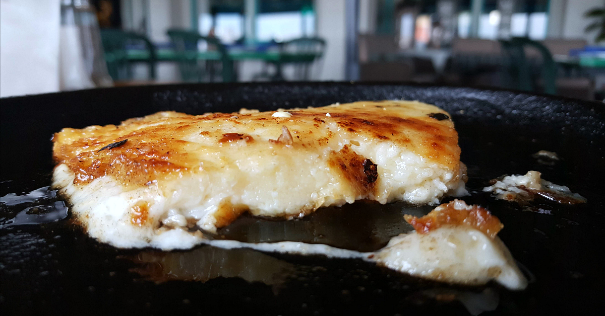 the greek ventura cheese flamed