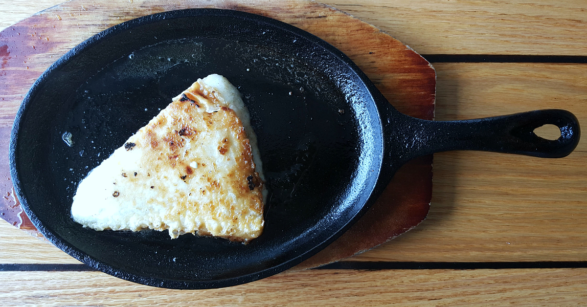 the greek ventura flamed cheese