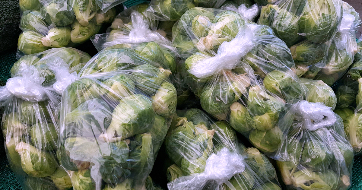 bags brussels sprouts