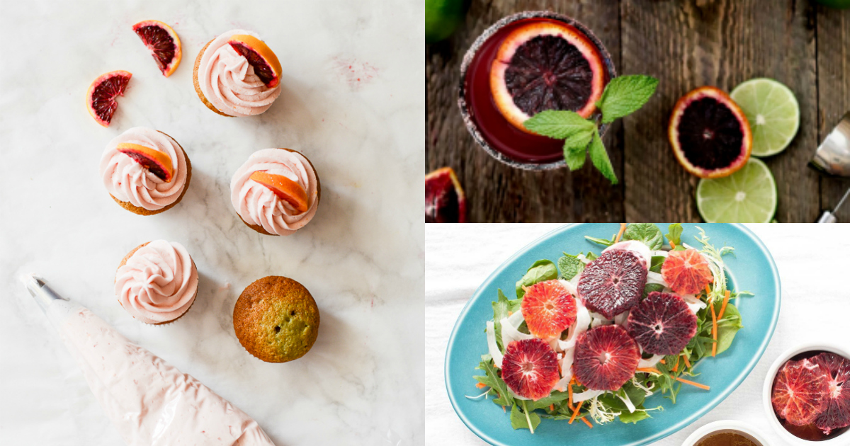blood orange cupcakes margaritas salad