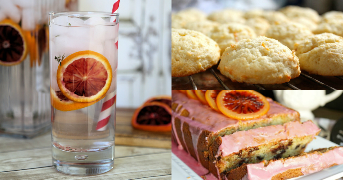 blood orange spa water cookies cake