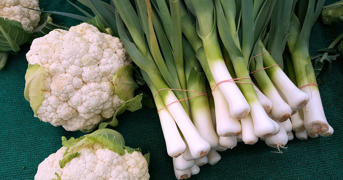 leeks and cauliflower