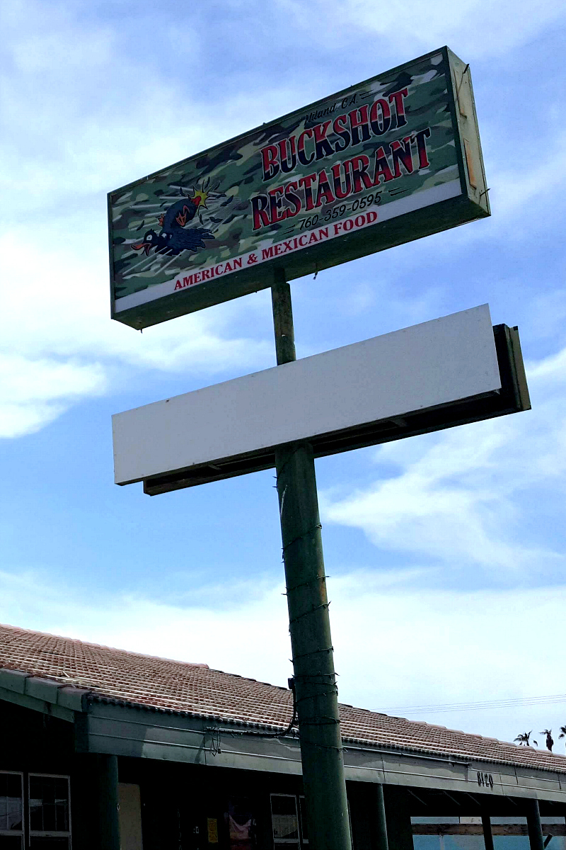 Buckshot Diner in Niland, California Near Salvation Mountain, Slab City and The Salton Sea