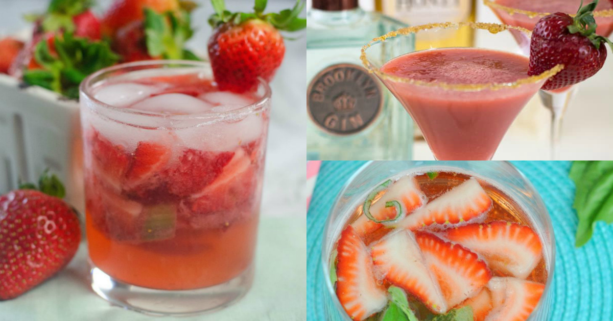 cocktails made with strawberries
