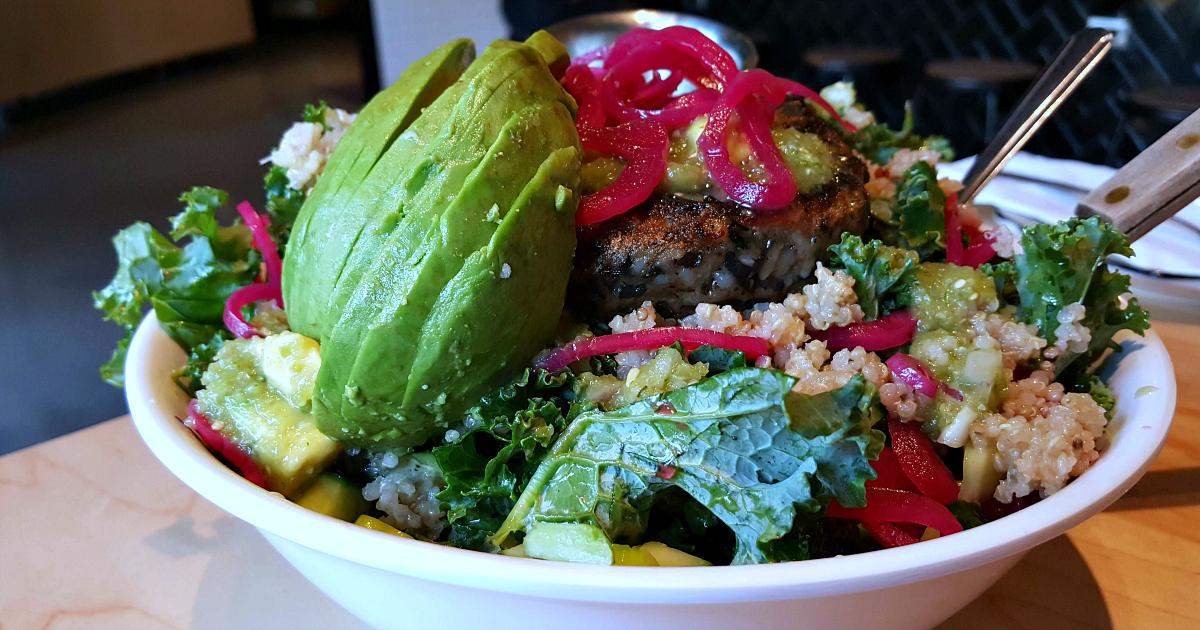 craft burger vegan salad downtown disney
