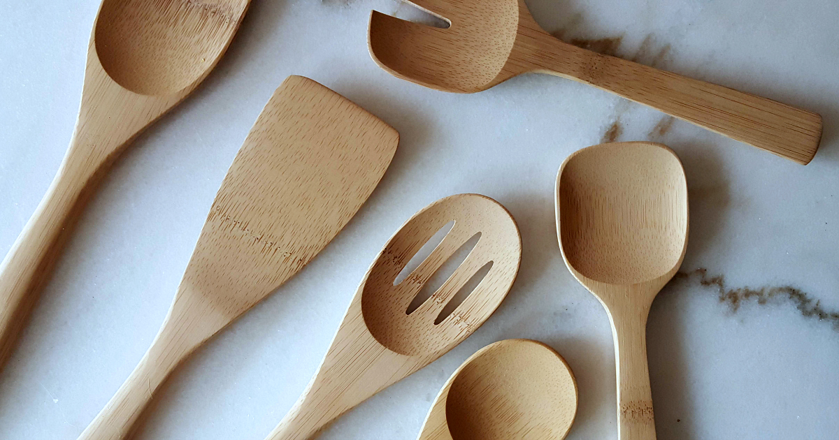 kitchen tools made from bamboo