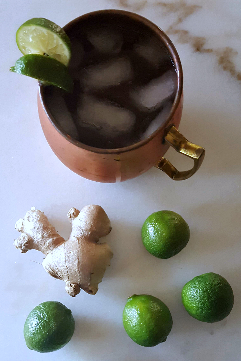 Bourbon Mule Recipe with Ginger and Lime - Similar to a Moscow Mule cocktail