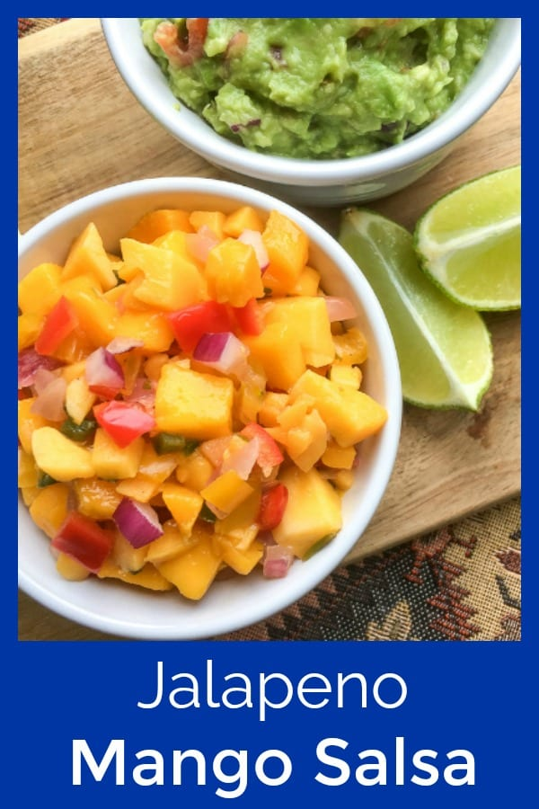 Jalapeno Mango Salsa Recipe #Mangos #MangoSalsa #FruitSalsa