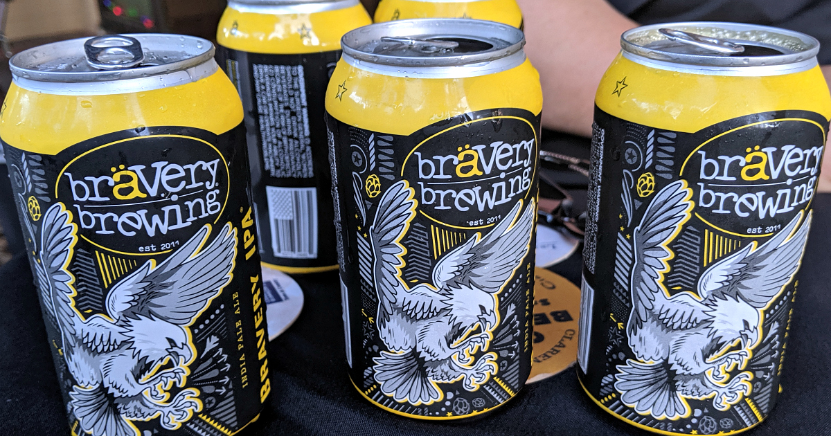 cans of bravery brewing ipa
