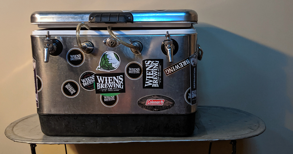 keg cooler fromwiens brewing temecula