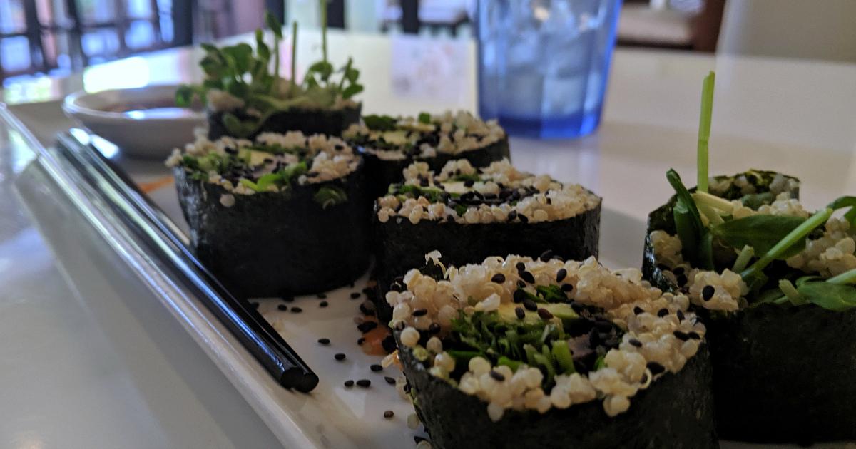 loving hut vegan quinoa sushi appetizer