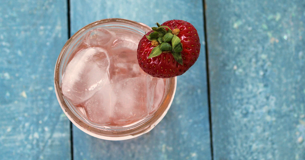 overhead mason jar homemade strawberry soda