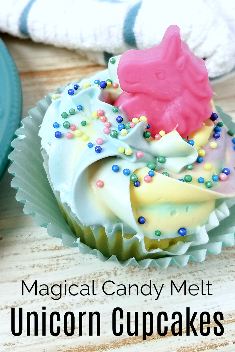 pin magical candy melt unicorn cupcake