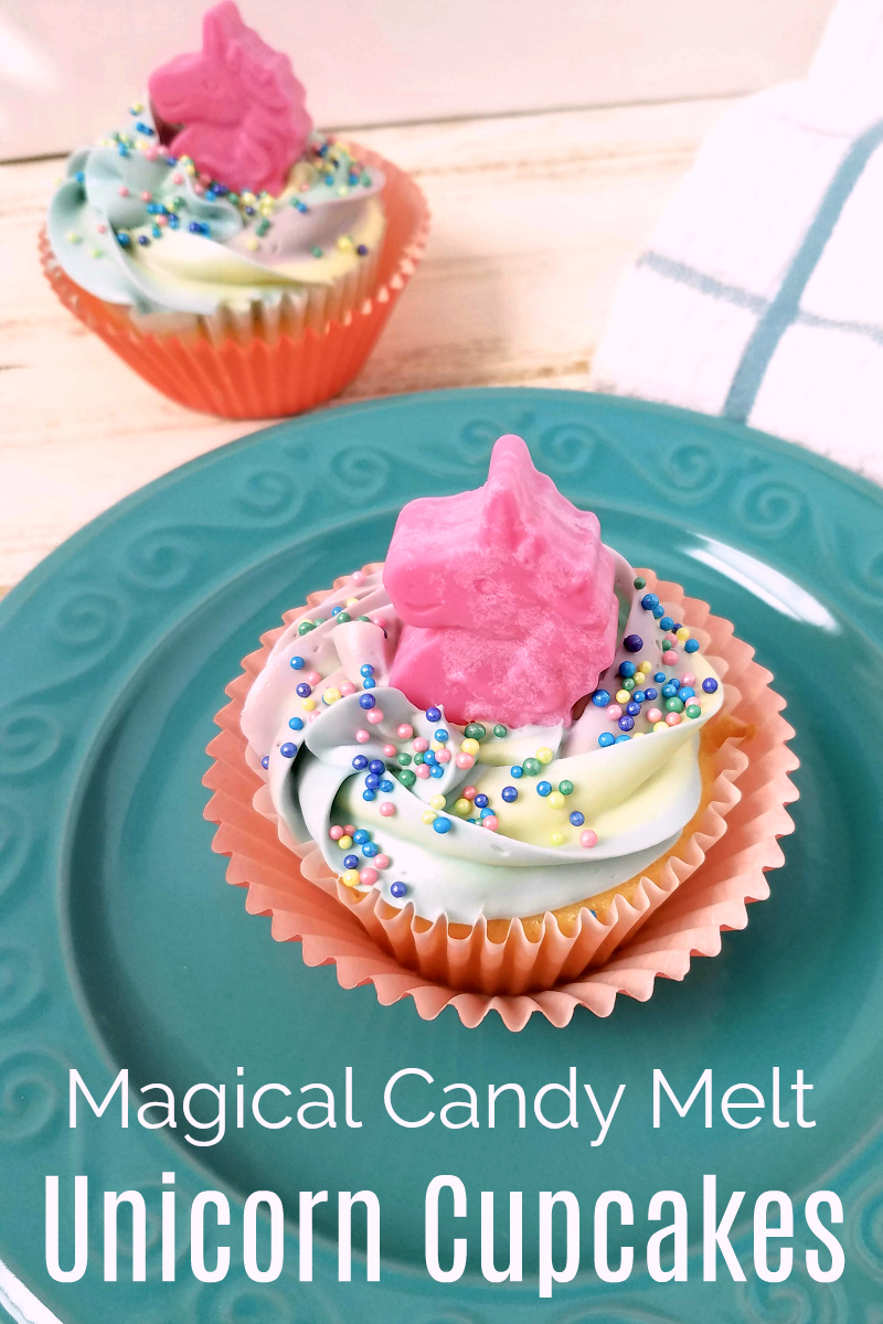 pin magical candy melt unicorn cupcakes