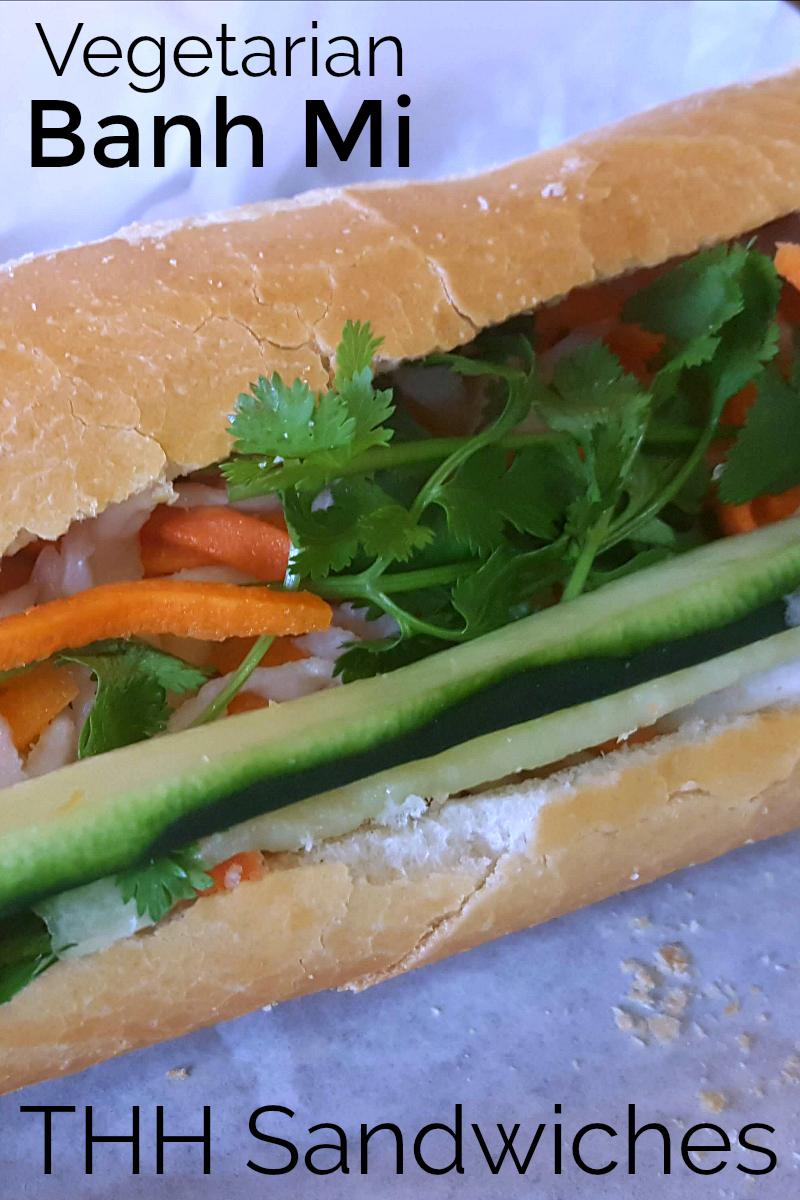 pin vegetarian banh mi at thh sandwiches