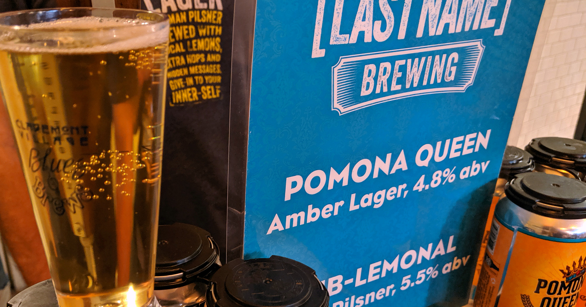 pomona queen amber lager last name brewing