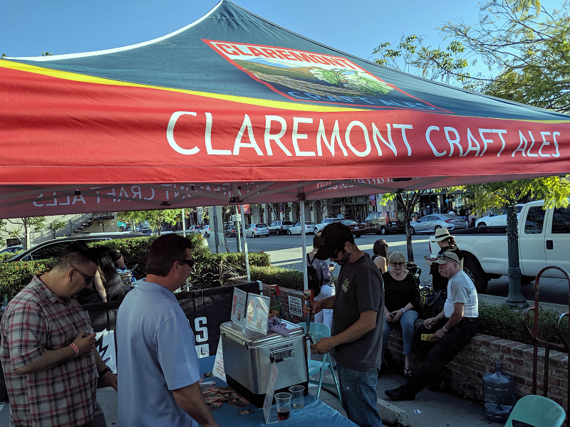 tasting line for claremont craft ales