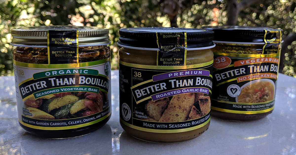 3 jars of vegan bouillon
