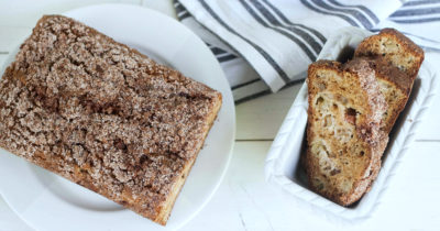 feature cinnamon streusel rhubarb bread
