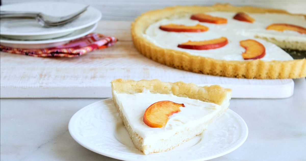 feature easy peach cookie crust tart