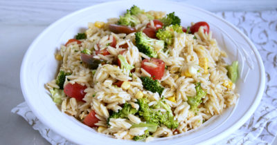 feature vegan orzo potluck salad