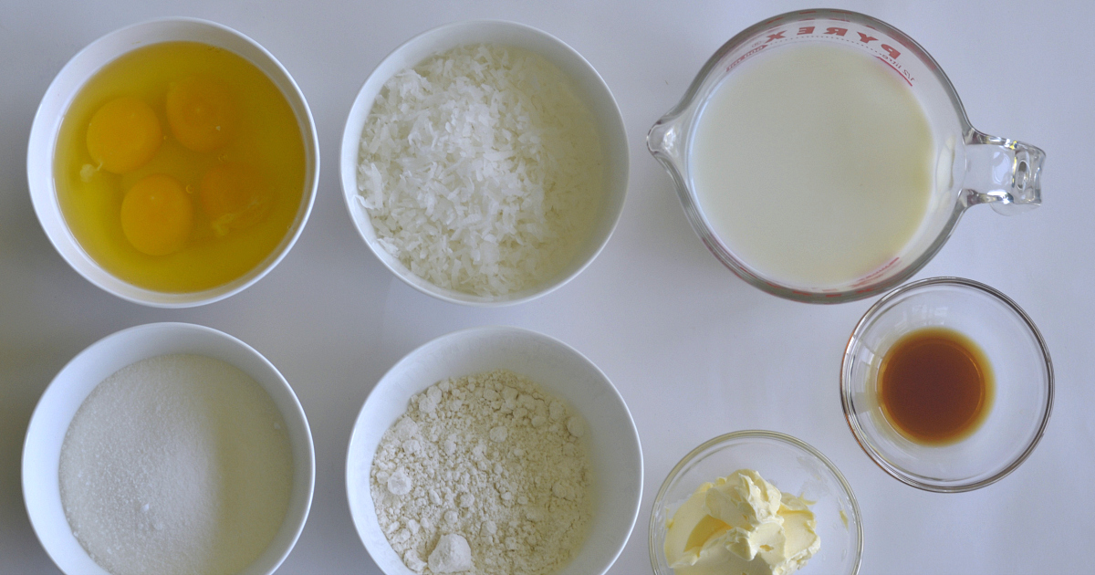 ingredients for easy coconut pie