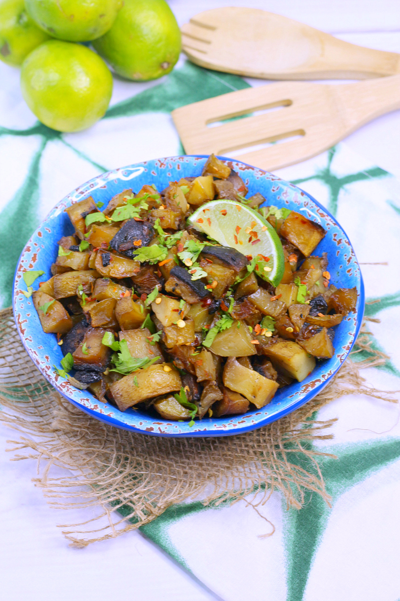 Easy Vegetarian Cuban Potatoes Recipe #CubanRecipes #Potatoes
