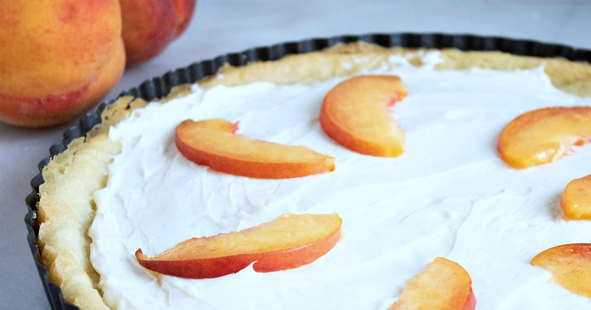 peaches and peach tart