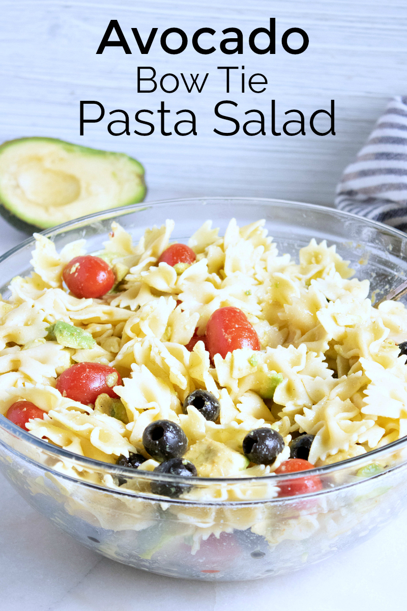 pin avocado pasta salad