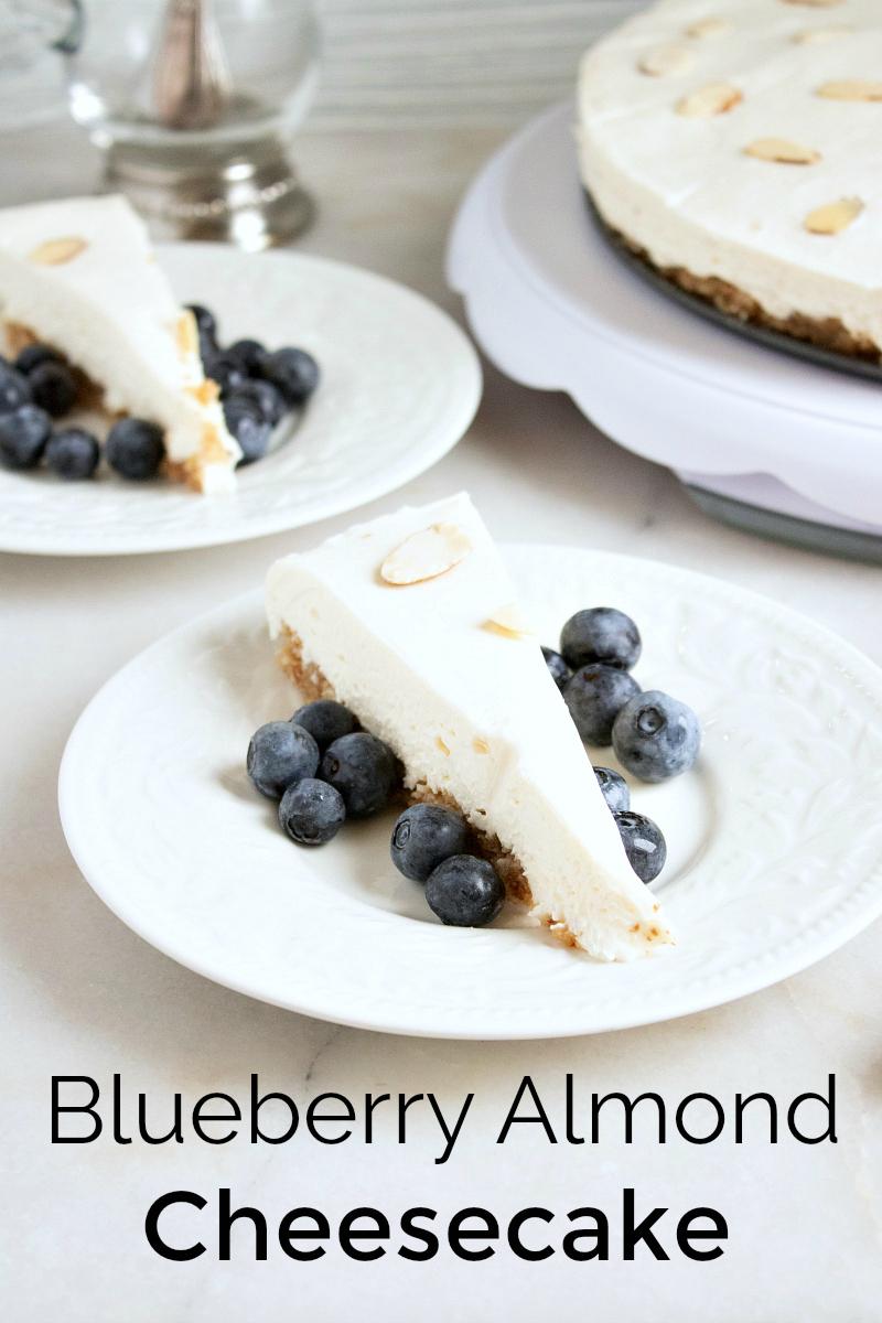 No Bake Blueberry Almond Cheesecake Recipe