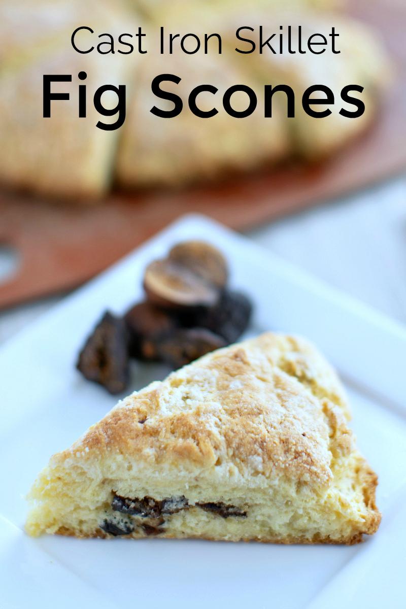 Cast Iron Skillet Cardomom Fig Scones Recipe