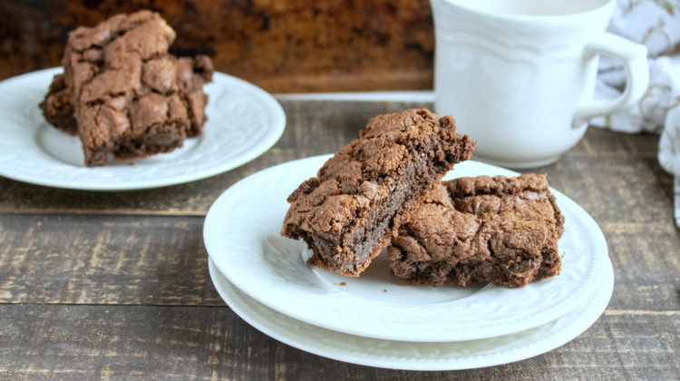 reeses brownies on white plates