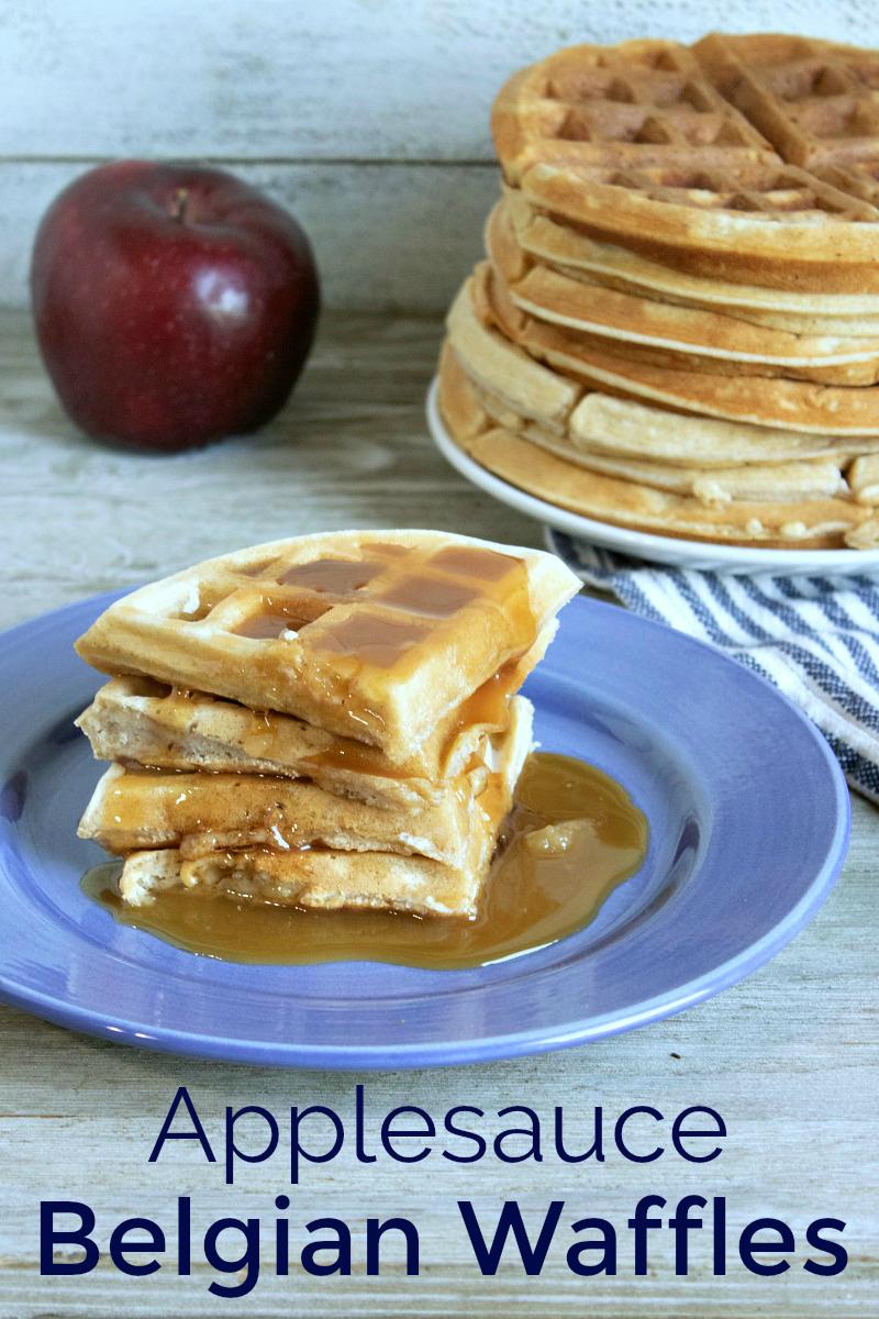 breakfast applesauce belgian waffles
