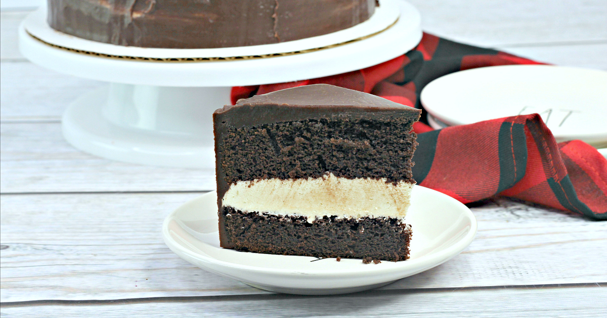 chocolate cake inspired by hostess ding dongs