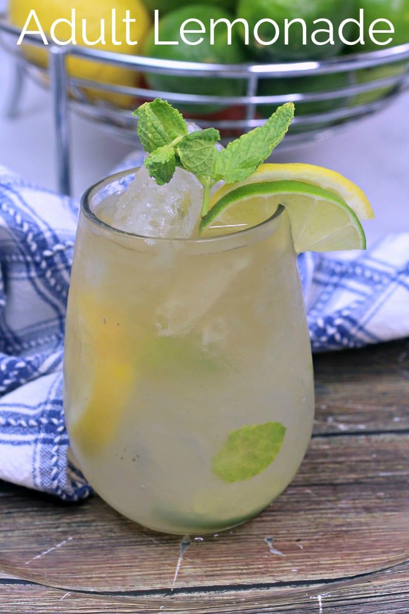 Jamaican Lemonade Cocktail Recipe - Handcrafted Cocktail #CocktailRecipes