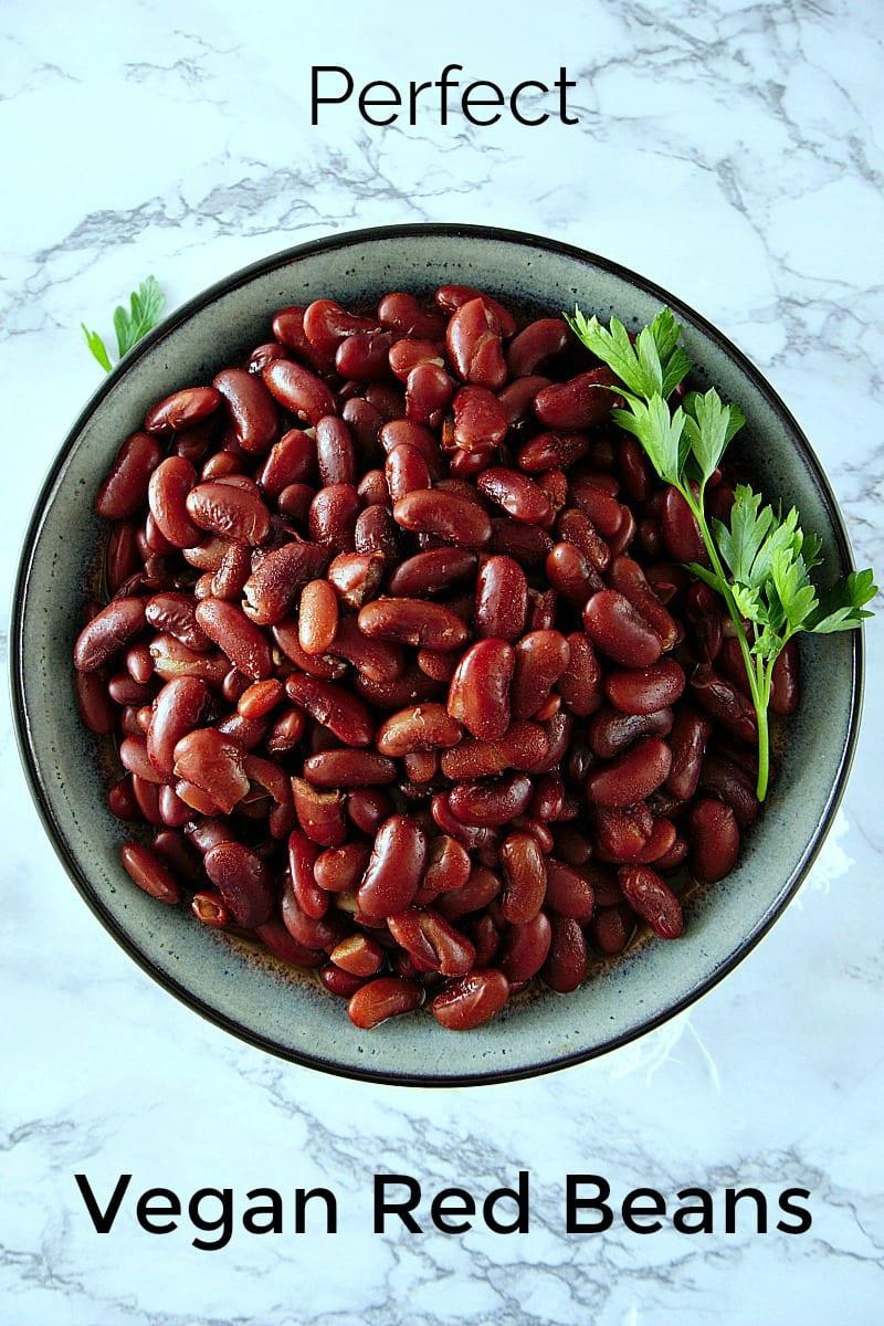 Perfect Vegan Pressure Cooker Red Beans Recipe #recipe #instantpot #pressurecooker #vegan #vegetarian #beans #redbeans #instantpotrecipes