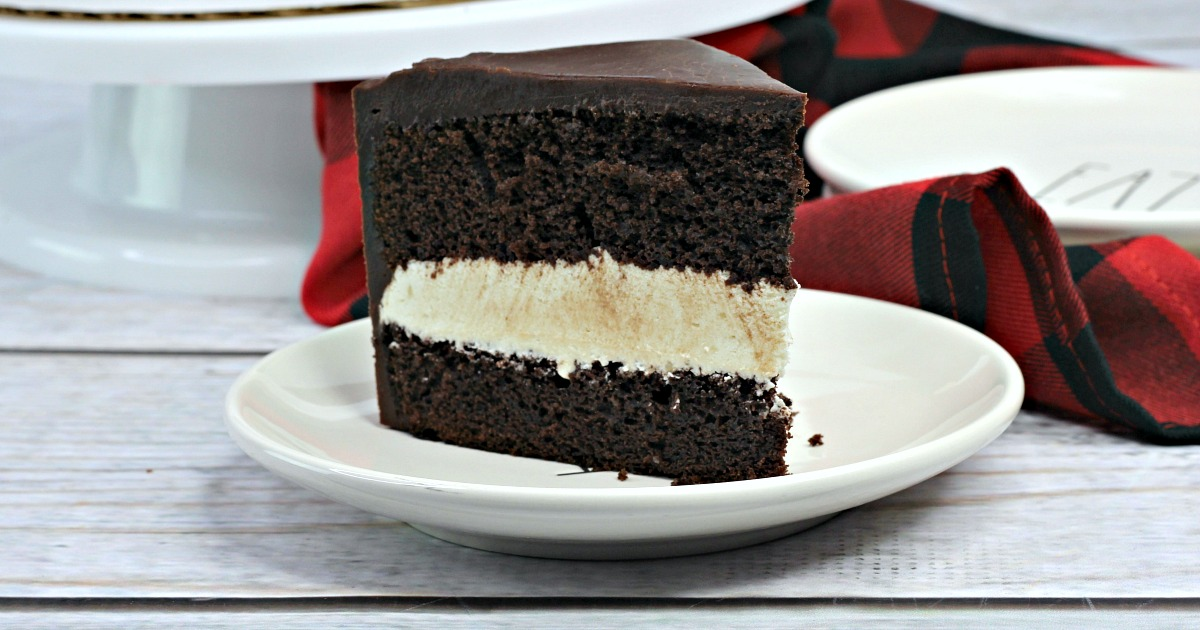 slice of hostess ding dong cake