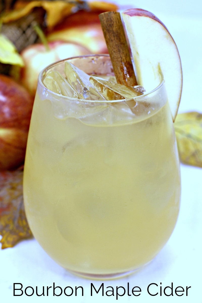 2 pin apple maple bourbon drink