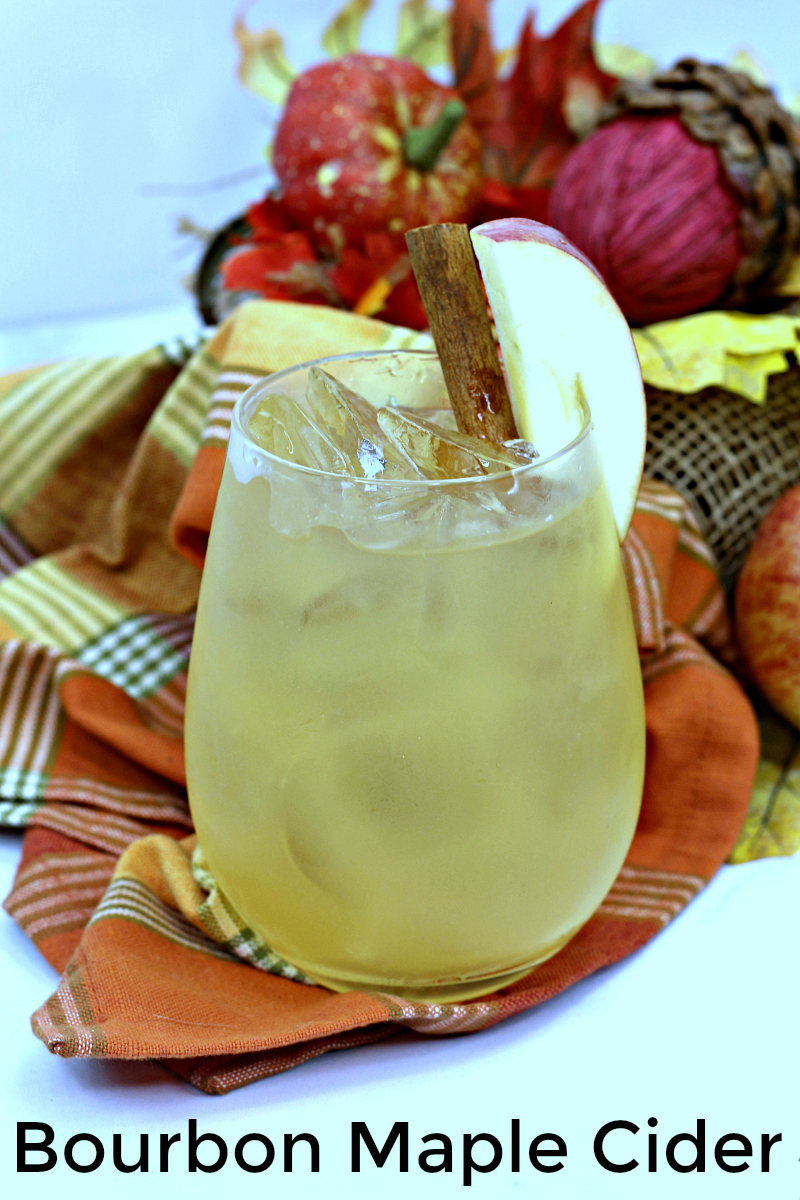 2 pin fall cocktail bourbon maple cider