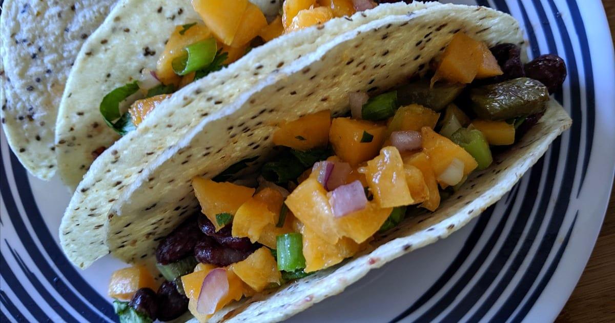 cactus taco apricot salsa