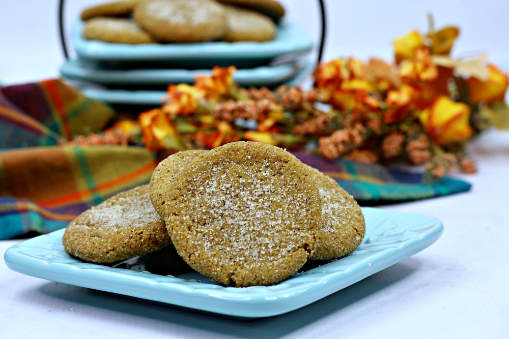 fall pumpkin cookies on plate