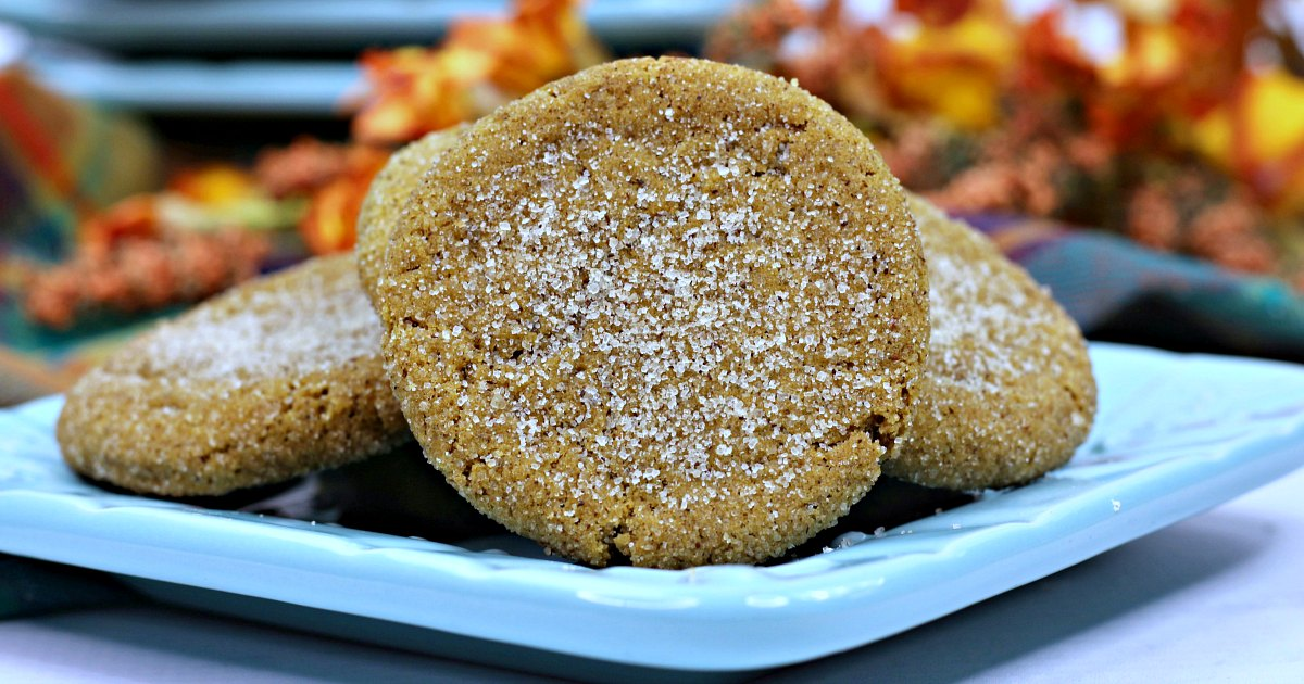 feature close up chewy pumpkin molasses cookies