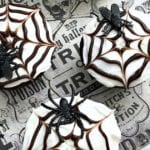 Easy DIY Halloween Spider Web Cupcakes