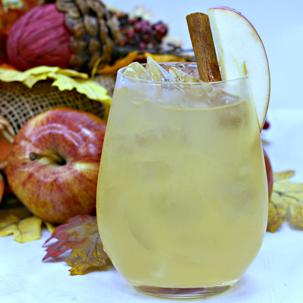 insta apple cider bourbon maple drink