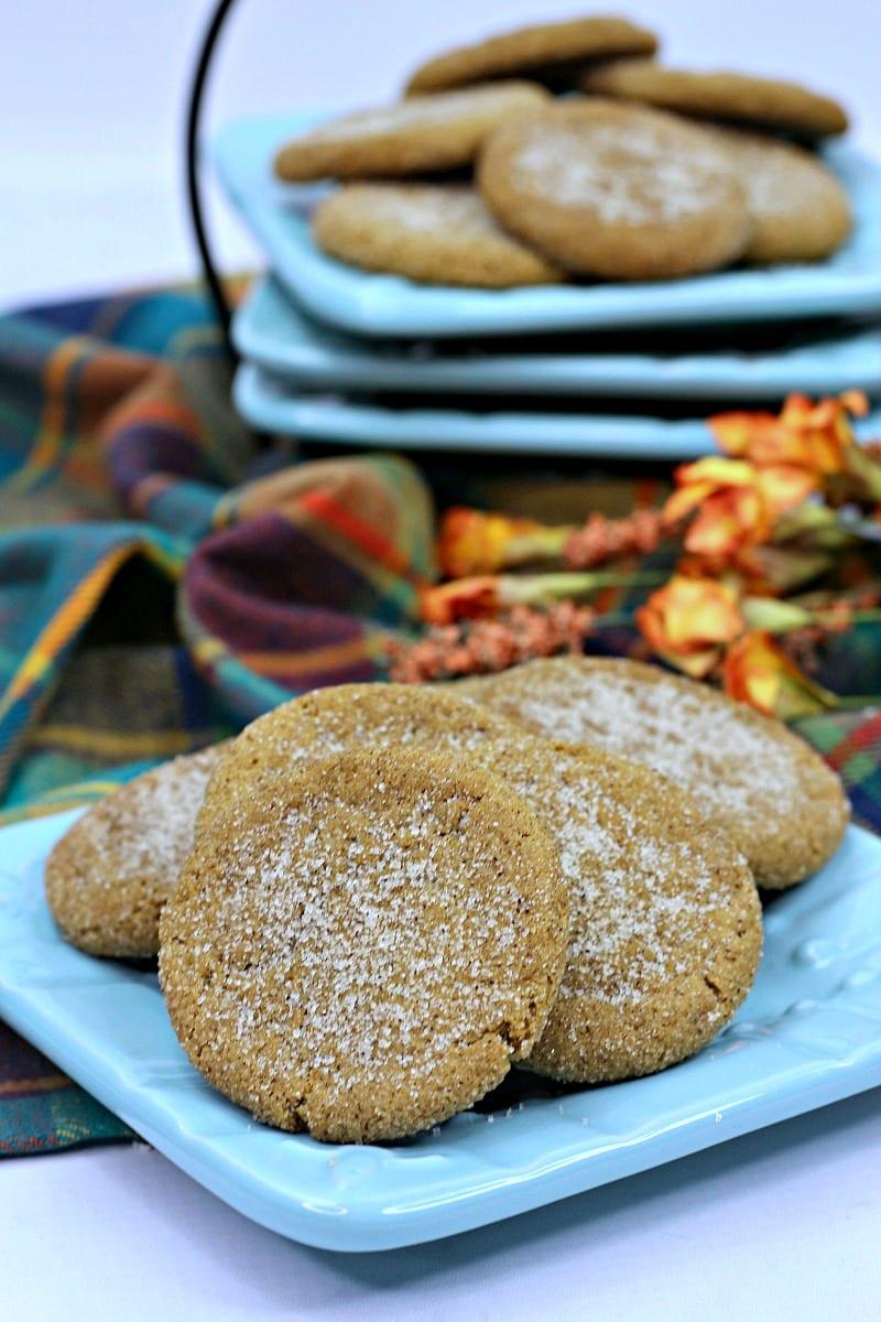 Chewy Pumpkin Molasses Cookies Recipe #recipe #cookies #pumpkin #PumpkinCookies #PumpkinSpice #Molasses
