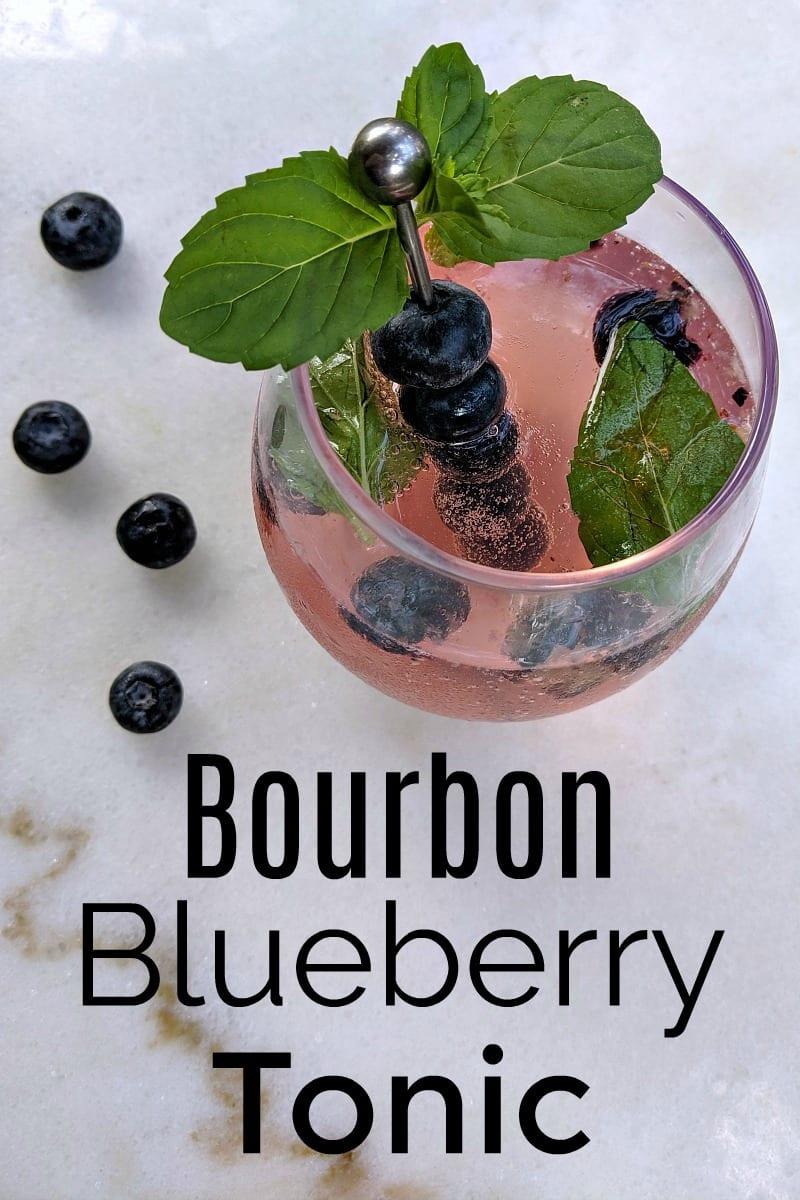 Bourbon Blueberry Mint Tonic Cocktail Recipe
